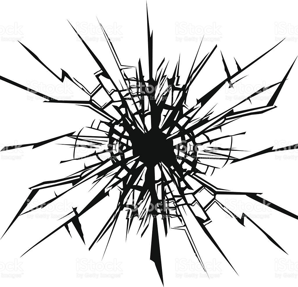 1024x986 Cracked Window Clipart