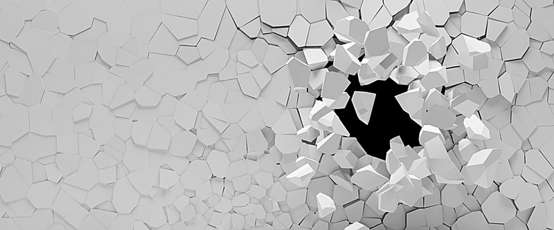 800x333 Broken Hole In The Wall Texture Background, Broken Wall, Holes