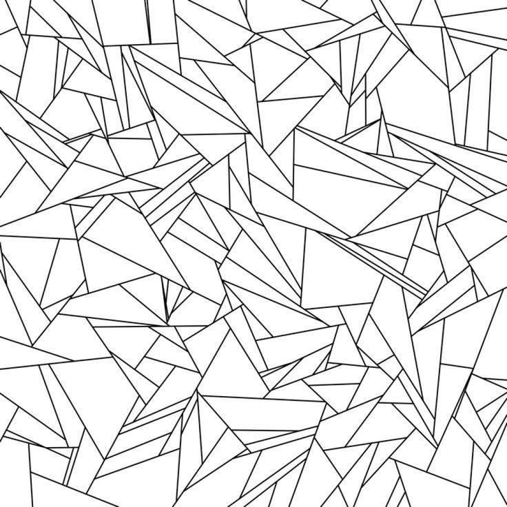 736x736 Broken Glass Tessellation Coloring Page Free Printable For Adults