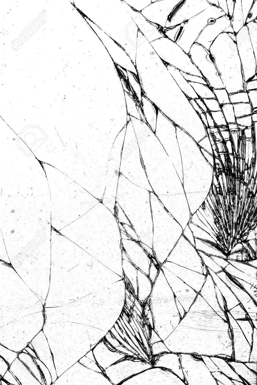 867x1300 Broken Glass Texture, Cracked In The Glass. Stock Photo, Picture