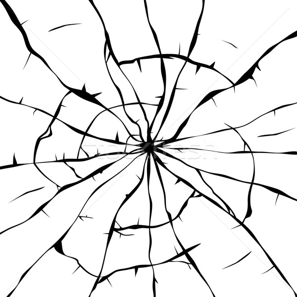 600x600 Vector Black And White Background Of Broken Glass Vector