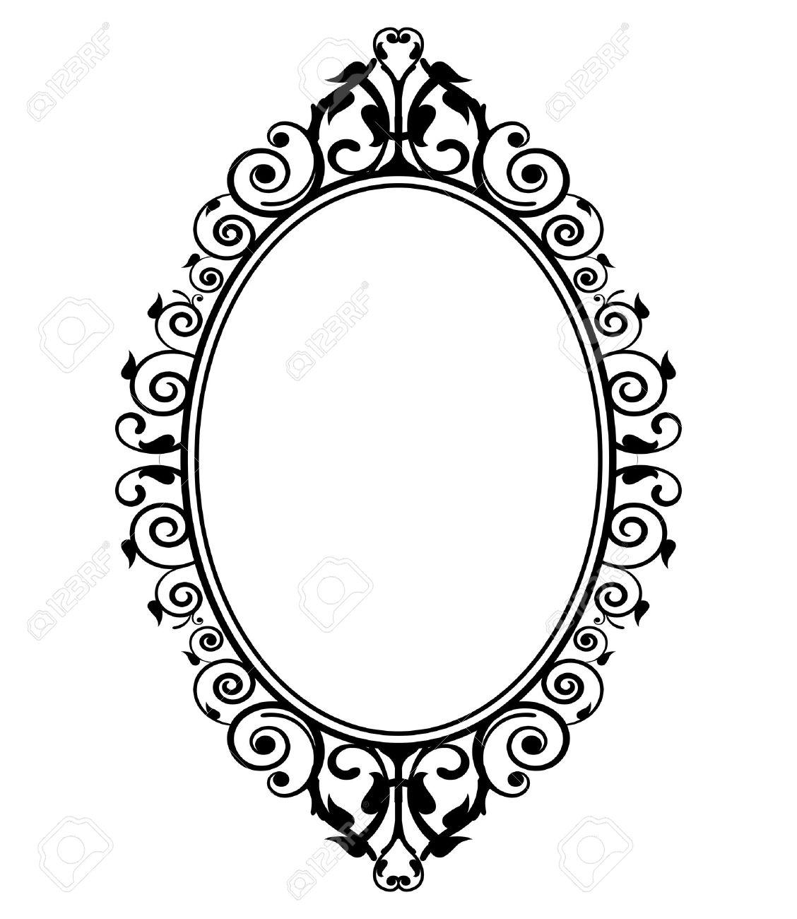 1128x1300 Vintage Hand Mirror Clipart