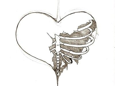 Line Art Heart Outline : Broken heart drawing at getdrawings free for personal use