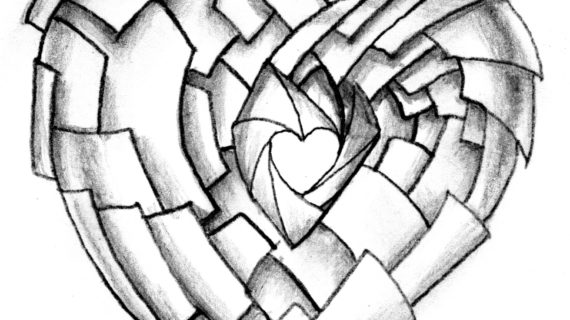 570x320 Heart Drawings In Pencil Pintrest Qveenkamerynn A R T