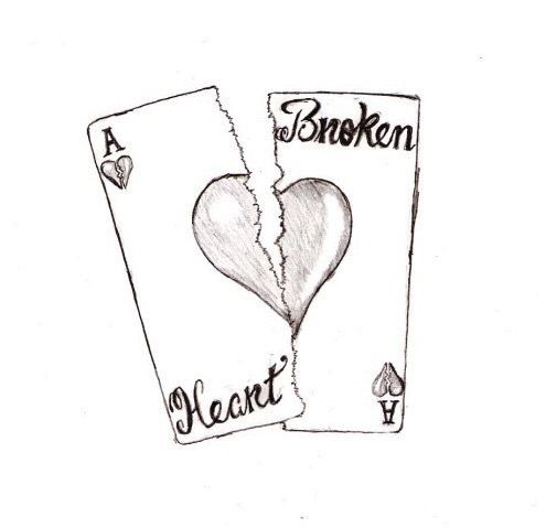 Broken Hearts Drawing