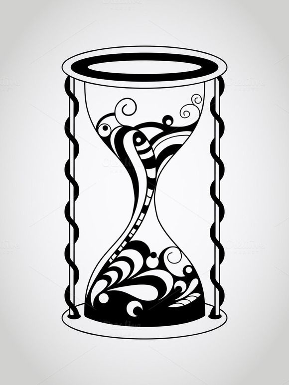 Broken Hourglass Drawing