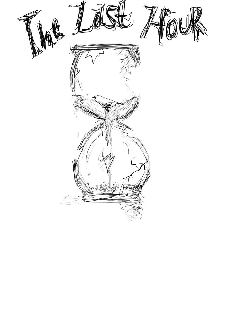 1024x1280 Broken Hourglass Sketch By Ayatorihio