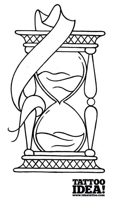 457x800 Draw A Traditional Style Hourglass Tattoo Hourglass