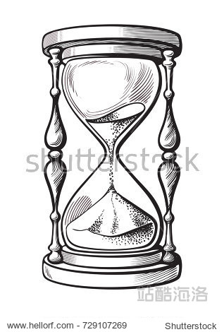 318x470 Eps8 High Quality Dimensional Vector Sand Glass Illustration