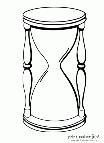 363x500 Hourglass Coloring Pages