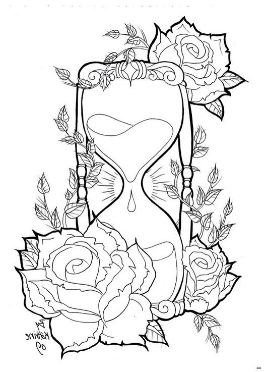 526x737 Hourglass Drawings Pictures To Pin