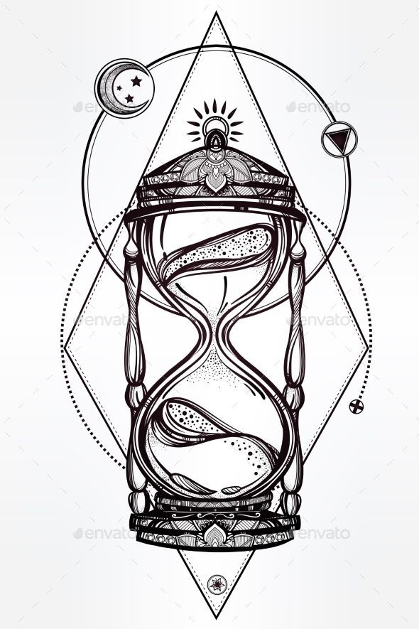 590x885 The Best Traditional Tattoo Hourglass Ideas