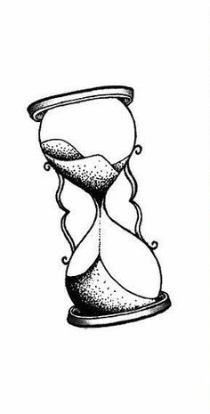 236x465 Simple Hourglass Drawing