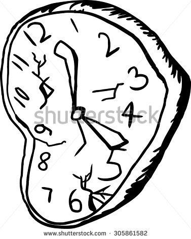 377x470 Drawn Clock Shattered