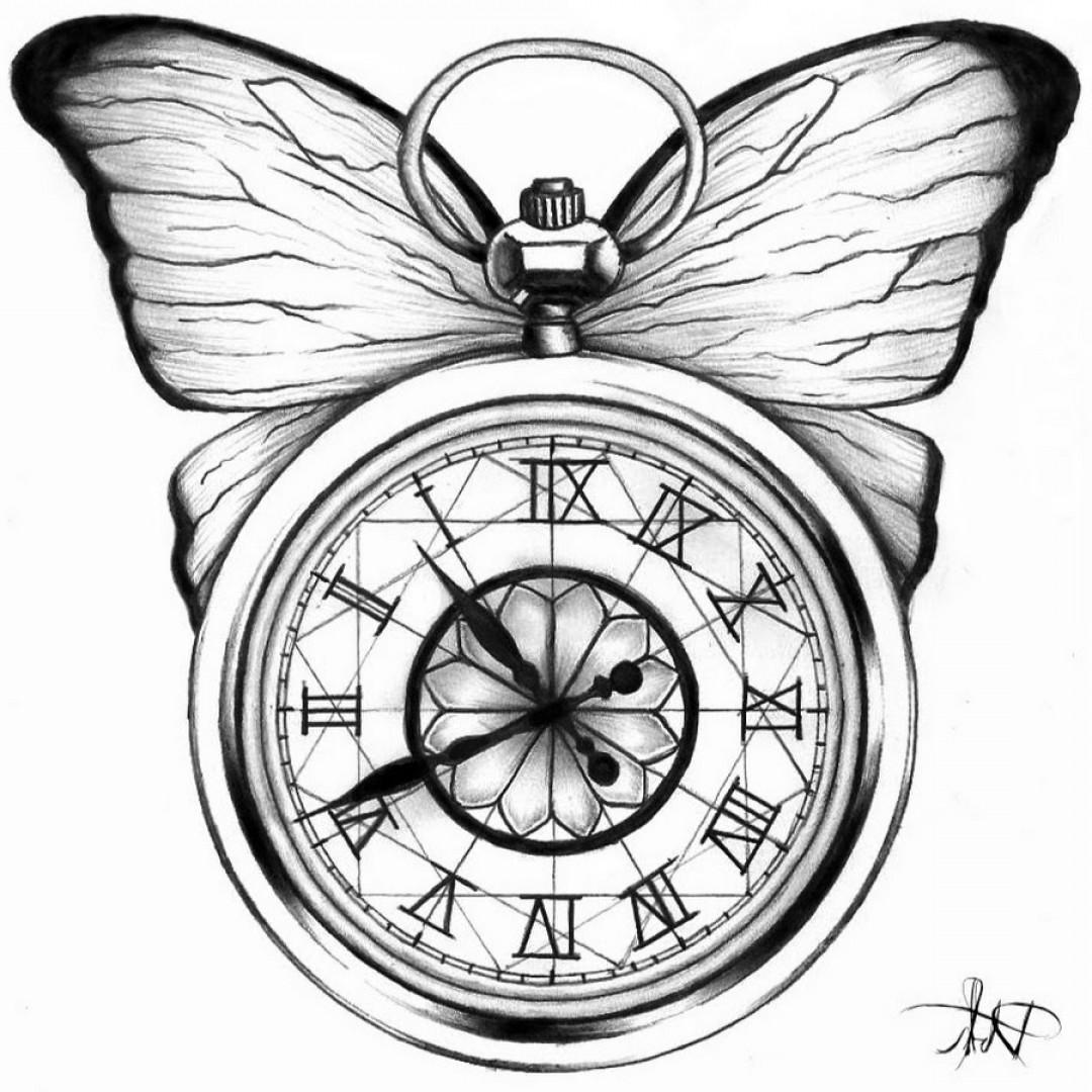 1080x1080 Pocket Elegant Watch Tattoo Drawings Oblacoder