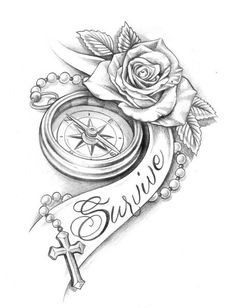 236x308 Pocketwatch And Roses By Mmpninja On Things I'M Drawn