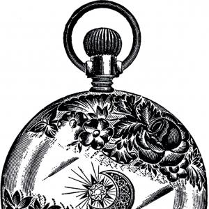300x300 Public Domain Pocket Watch Image Fancy Caymancode