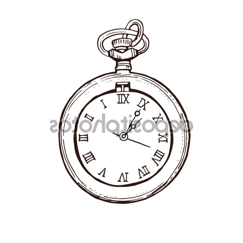 1228x1228 Stock Illustration Open Pocket Watch In Vintage Caymancode