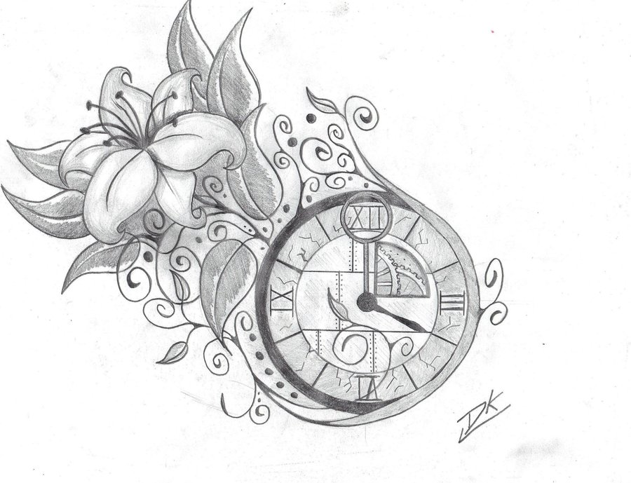 900x689 Vintage Clock Art