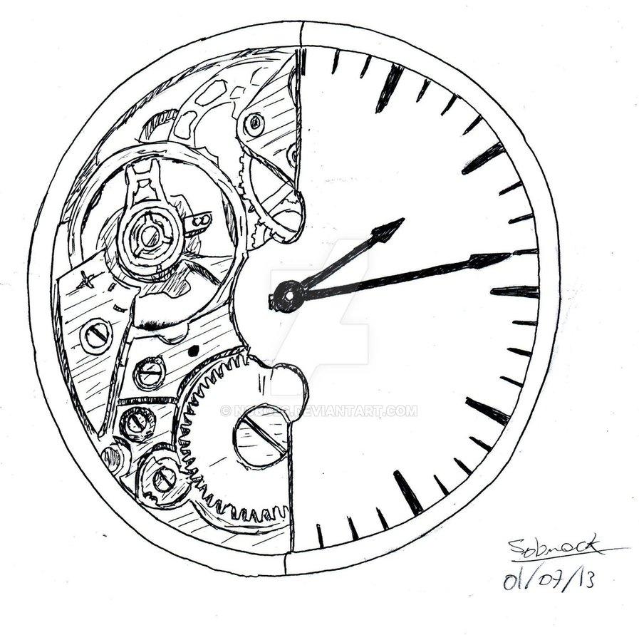 897x891 Broken Clock Drawing Broken Clocknobges