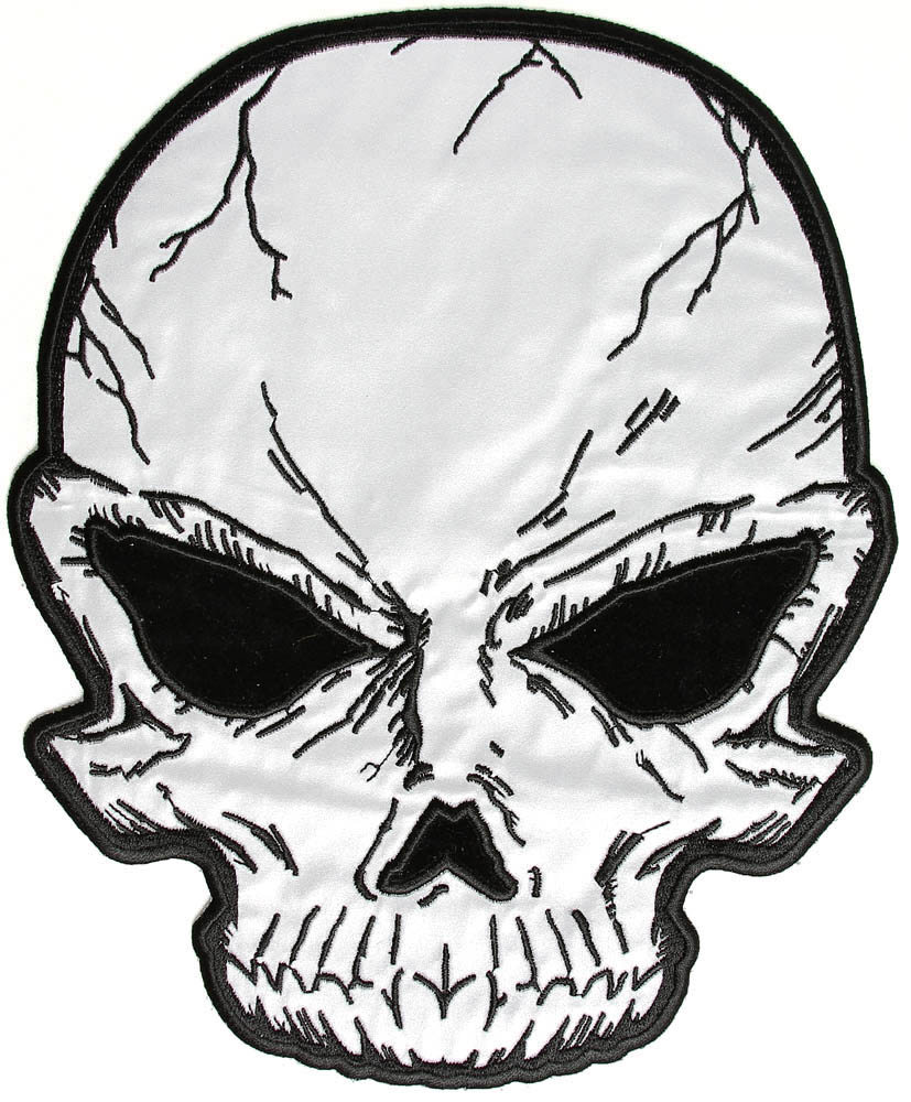 827x1000 Large Reflective Skull Patch For Jackets