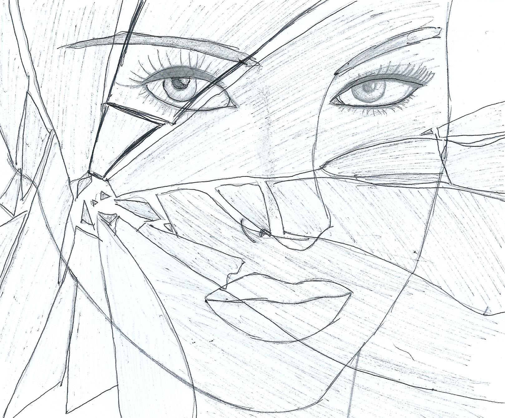 1618x1341 Broken Mirror Design. Elegant Images Shattered Mirror Design