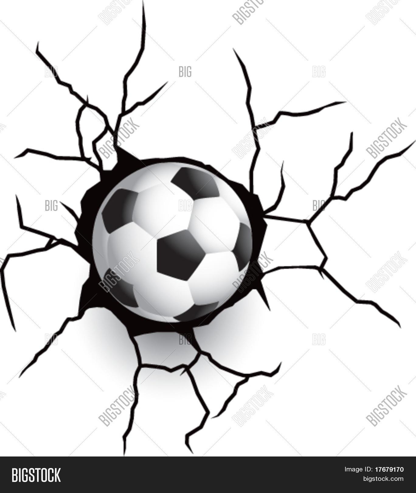 1368x1620 Broken Wall Soccer Football Vector Amp Photo Bigstock