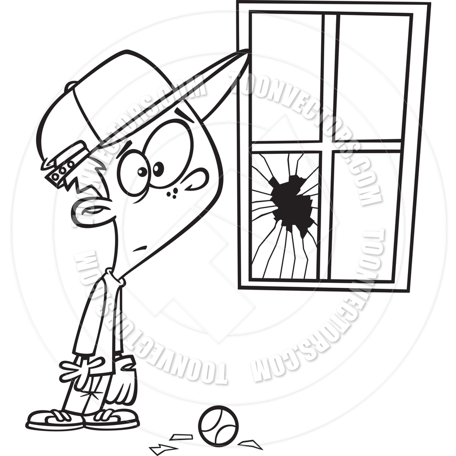 Broken window drawing at getdrawings free for personal use 940x940 cartoon broken window black amp white line art by ron leishman thecheapjerseys Gallery