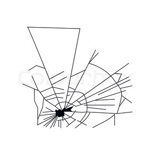 320x320 Mirror Or Broken Glass, Cracked Or Shattered Window. Crash Glass