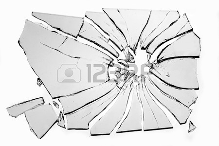 450x300 Broken Glass Isolated On White Background Stock Photo, Picture