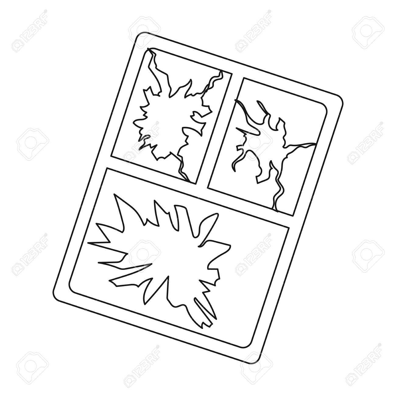 1300x1300 Broken Window Icon In Outline Style Isolated On White Background