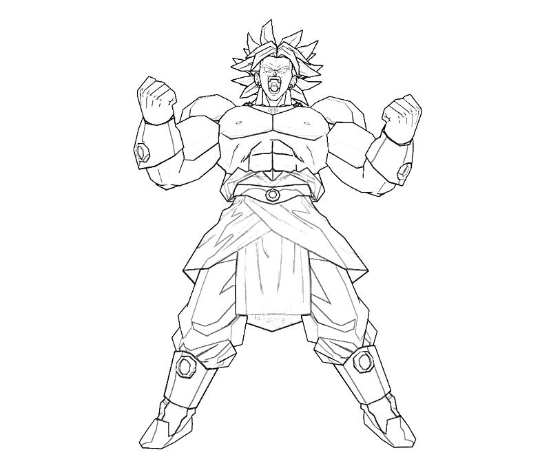 broly coloring pages - photo#17