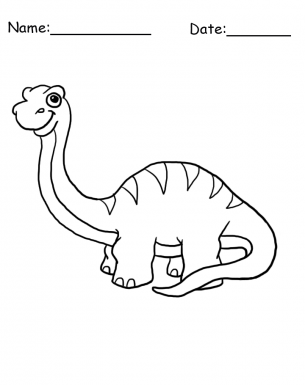 Brontosaurus Drawing