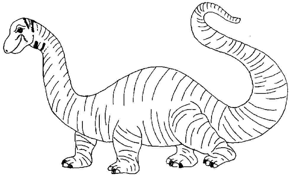 983x600 Brontosaurus Coloring Pages