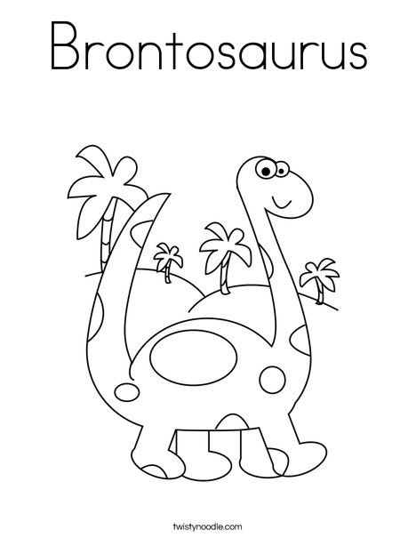 468x605 Brontosaurus Coloring Page