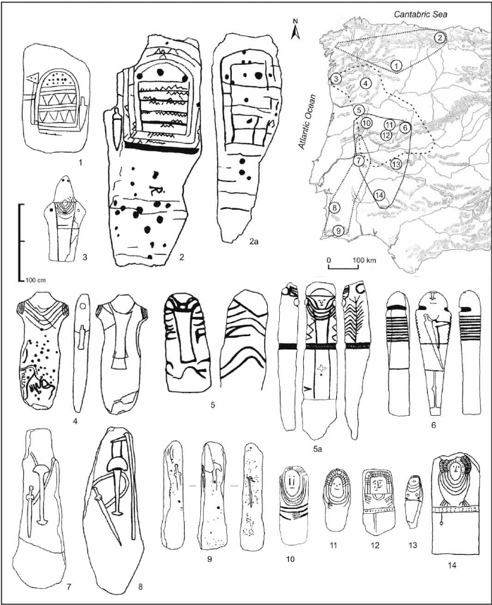 698x857 Schematic Drawings Of Selected Stelae And Statue Menhirs
