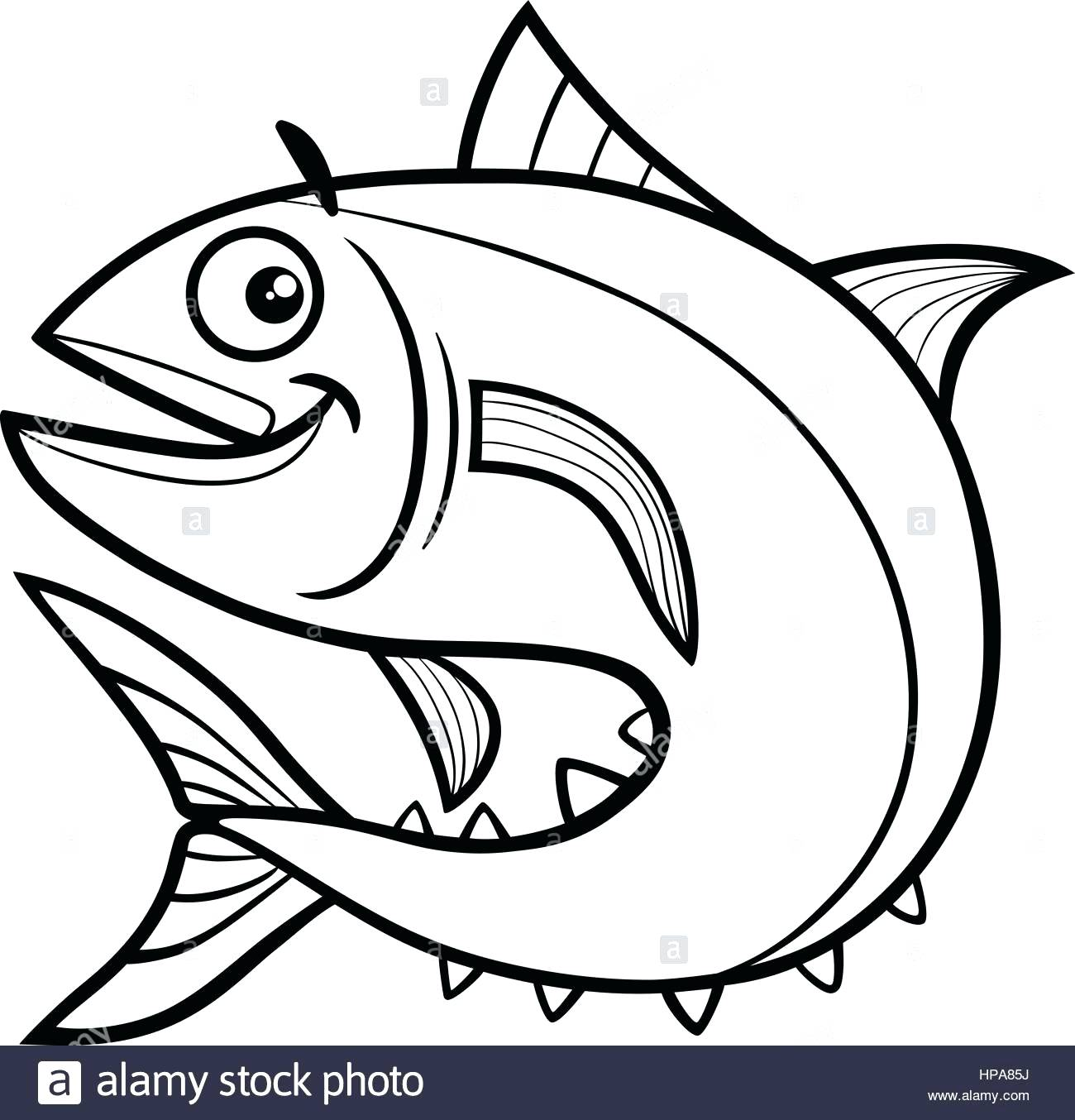 Drying Salmon Coloring Sheet - Worksheet & Coloring Pages