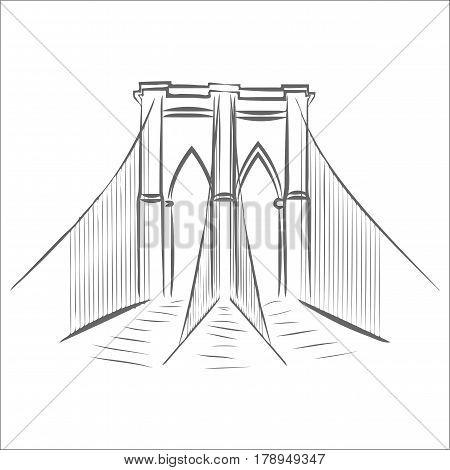 450x470 Brooklyn Bridge Graphic Design Vector Amp Photo Bigstock