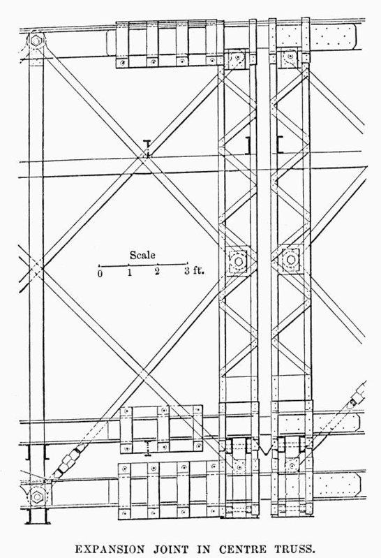 546x799 Brooklyn Bridge Truss Art Print By Granger