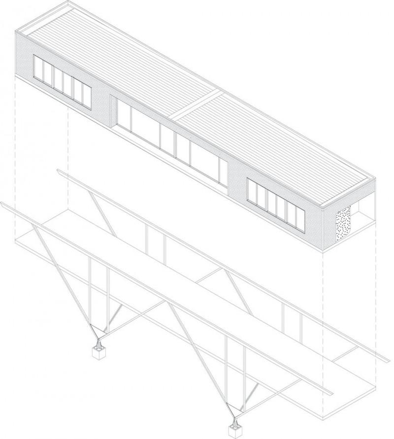 800x891 Modern Home Design Bridge House By Max Pritchard Architect