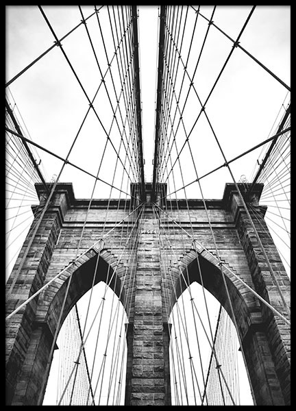 432x600 Print With A Photo Of The Architecture Of The Brooklyn Bridge