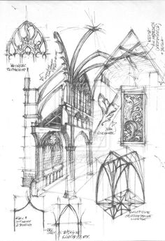 236x345 Architecture Sketch Of The Facade Of The Northernmost Medieval