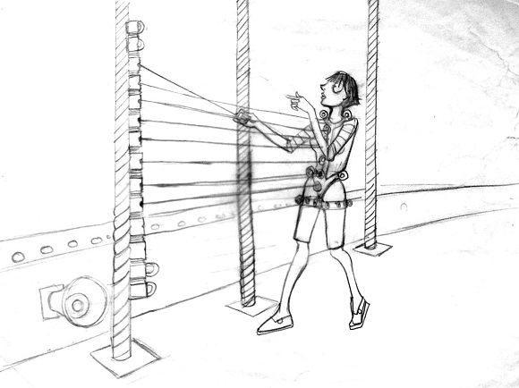 580x434 Human Harp The Clifton Suspension Bridge
