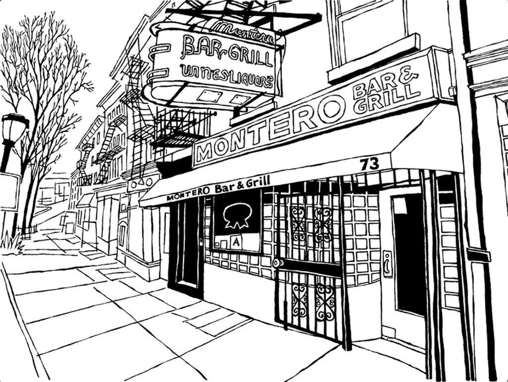 1024x769 Montero's Bar Of Brooklyn Original Art (Pen Amp Ink On Paper