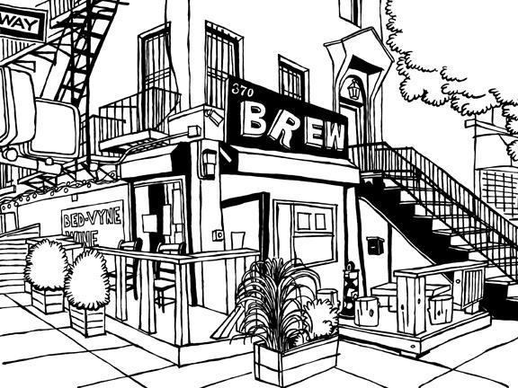 576x432 Bed Vyne Brew Of Brooklyn Original Art By John Tebeau (Ink