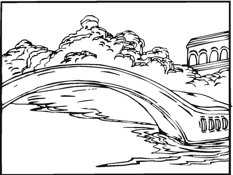 480x360 Bridge On The Lake Coloring Page Free Printable Coloring Pages
