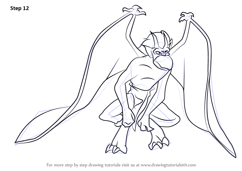 843x596 Learn How To Draw Brooklyn From Gargoyles (Gargoyles) Step By Step