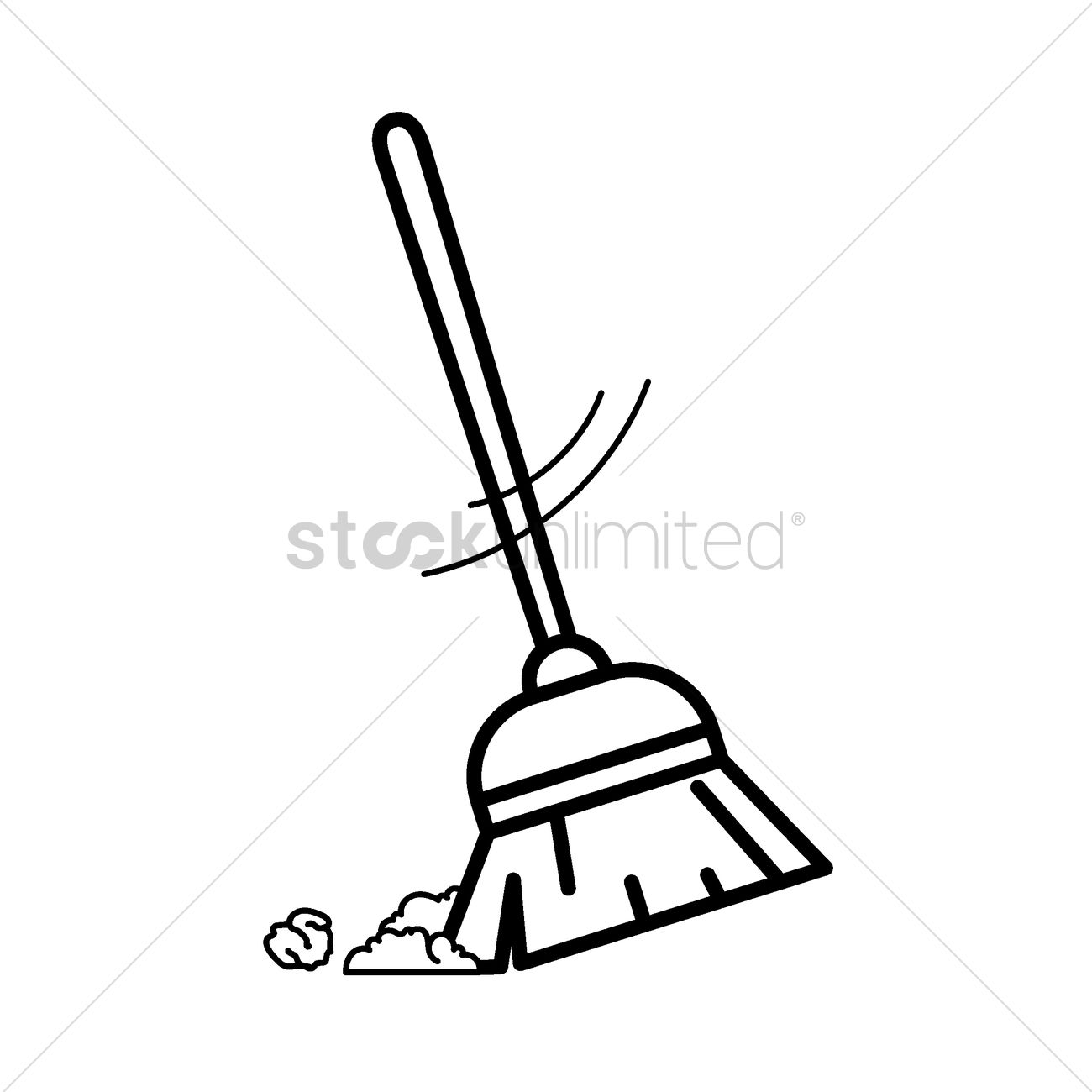1300x1300 Broomstick Vector Image