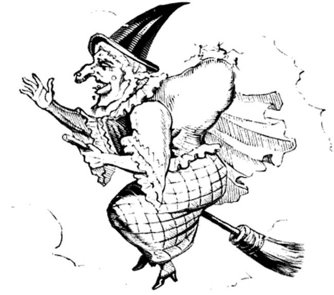 650x573 Vintage Witch On A Broomstick By Alleycatshirts @zazzle