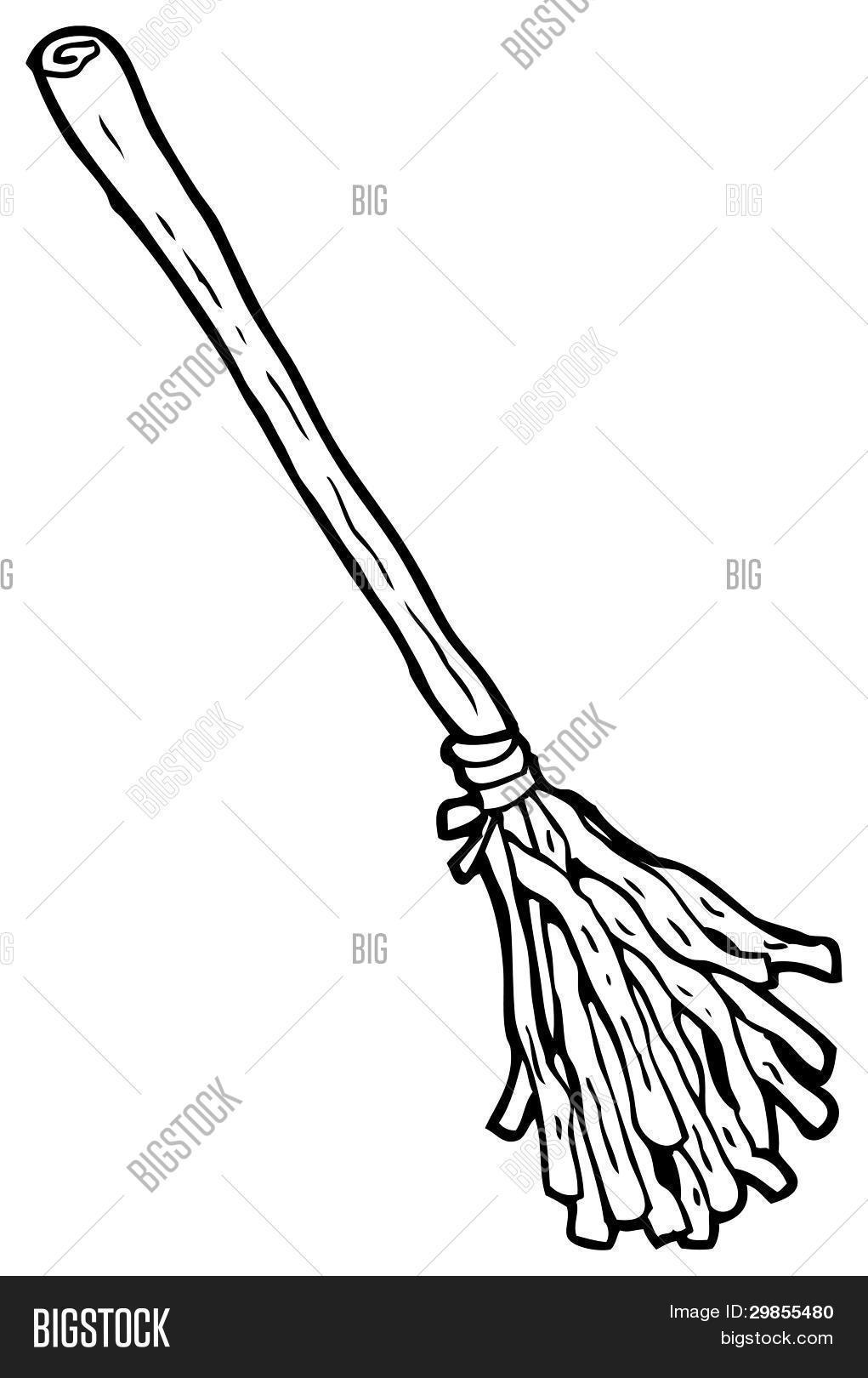 1021x1620 Witch's Broom Stick Cartoon Image Amp Photo Bigstock